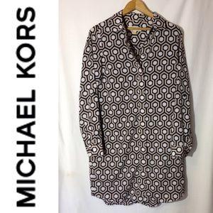 Michael Kors Geometric Patterned Shirt Dress